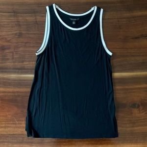 BANANA REPUBLIC Black & White Knit Tank Top, sz S